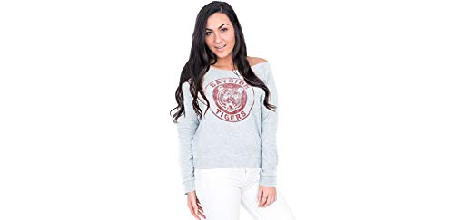 Costume Agent Saved by The Bell Bayside Tigers Off-The-Shoulder Sweatshirt for Women, Large