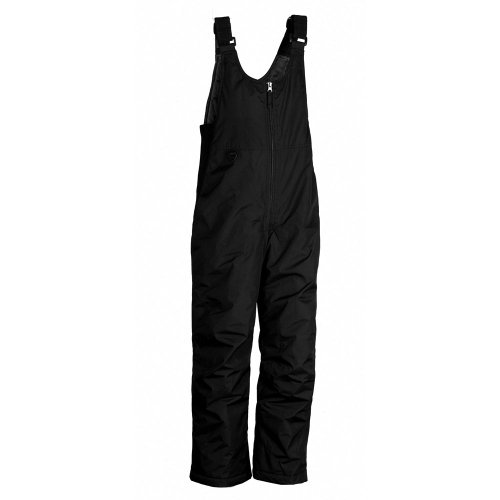 (Youth Toboggan Insulated Bib,Black,X-Small)
