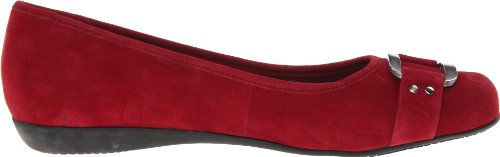 Trotters Dark Sizzle Suede Red Women's Flat a1ZqarOw