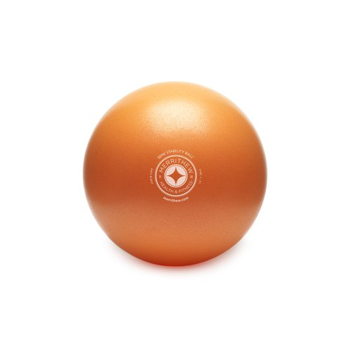 STOTT PILATES Mini Stability Ball (Orange), 12 Inch / 30 cm