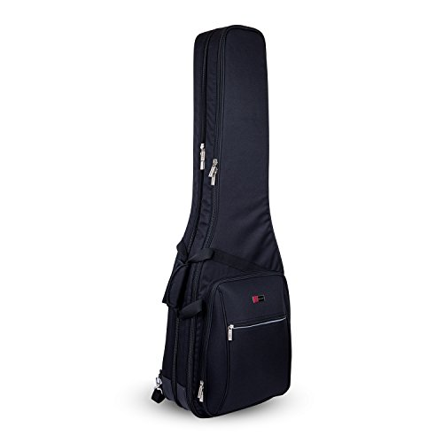 Crossrock CRDG105DBBK Case Deluxe Double 2 x Bass Guitar Gig Bag, Black