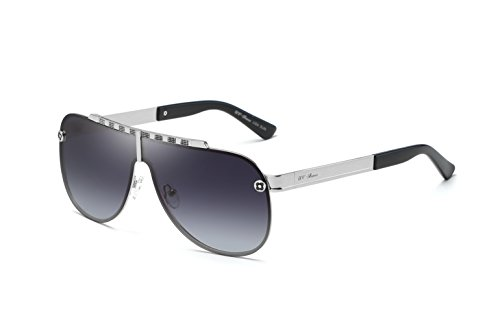 UV-BANS Unisex Aviator Sunglasses Polarized UV400 Lens,Ultralight Unbreakable Frame - Bans Silver