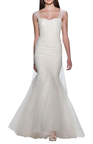 DAPENE® Women's New Strap Mermaid Sweep Beach Bridal Gown Wedding Dress