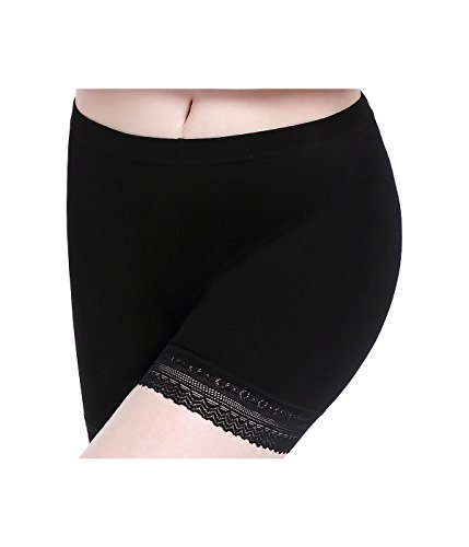 - CnlanRow Womens Lace Short Skirts Safety Pants Leggings - Stretchy Ultra Thin Workout Athletic Leggings for Women