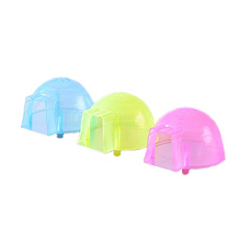 Hamster House Igloos Small Animal Pet House Igloos Nest Hideout Bathroom Cave Mini Hut Cage for Chinchilla Hamster in Winter (Random Color) (3 pcs)