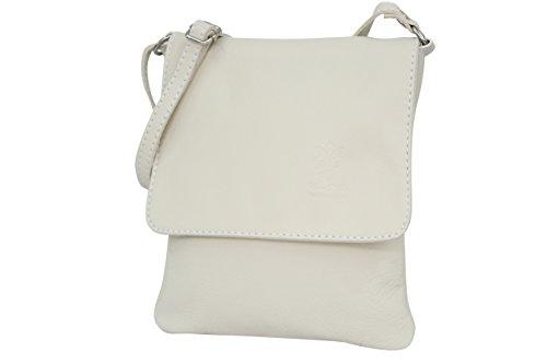 de nbsp;bandolera Moda Beige napa de – italiano Bolso de mujer AMBRA de pequeño bolso hombro NL602 nbsp;para piel piel RqW416wx