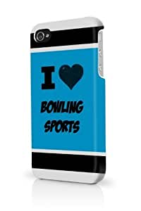 Bowling Sports Blue iPhone 5/5S Case - For iPhone 5/5S - Designer PC Case Verizon AT&T Sprint