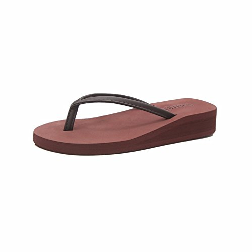 fashion with thick Po wear Brown skid XIAOGEGE flops female cool Xia anti Flip bottom slippers wAZAYXqv