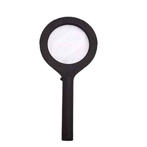 QIAOLE-MAGNIFIER Portable Handheld Magnifying Glass with Lights, 5-10X Lens, Books/Newspapers/Jewels/Maps