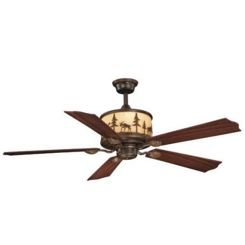 Vaxcel FN56305BBZ Yellowstone Ceiling Fan, 56″, Burnished Bronze Finish For Sale
