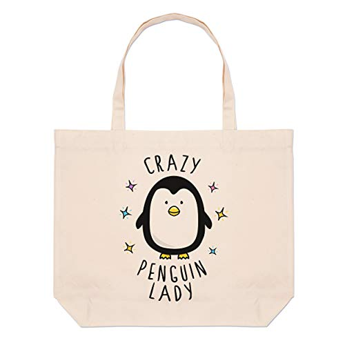 Bag Penguin Beach Tote Crazy Lady Large zqRzFg