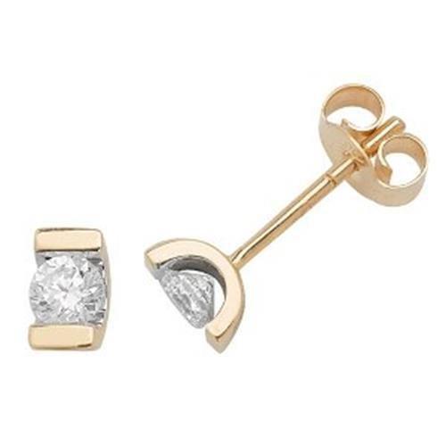 Diamant Boucles d'oreilles pierre unique 9ct W I1-20,33carats