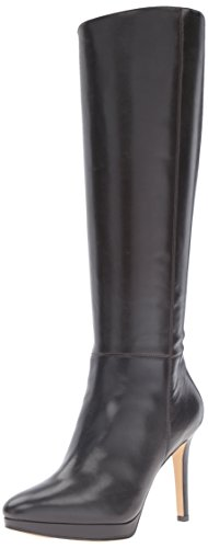 Image of Nine West Women's Okena Leather Knee-High Boot, Dark Brown, 7 M US