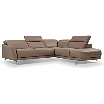 Amazon.com: I730 Premium Leather Right Hand Facing Sectional ...