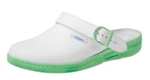 clinicfashion Clog weiß/mint für Damen, Größe 36-43 Weiß/Mint