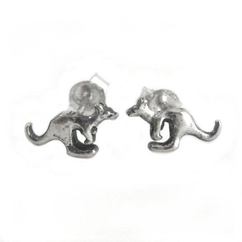 Sterling Silver Kangaroo Post or Stud Earrings