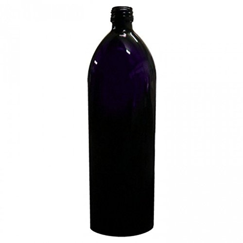 Pyramid Water Bottle - Miron Violet Glass 1-Litre Bottle