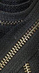 31\ Jacket Zipper Medium Weight YKK #5 Antique Brass ~ Separating ~ 580 Black (1 Zipper/pack)