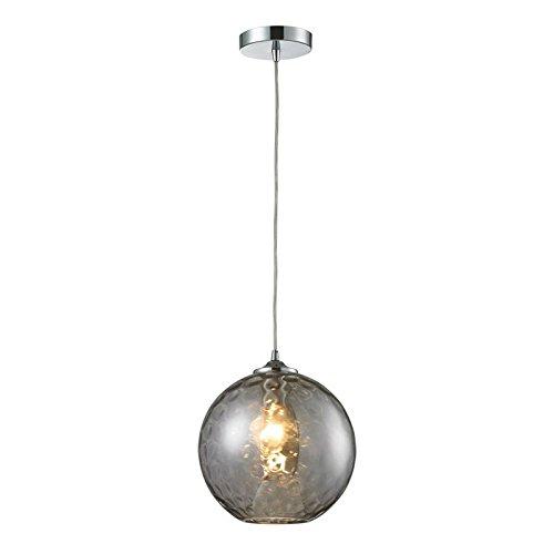 Watersphere 1 Light Pendant (Elk 31380/1SMK HGTV Home Watersphere 1-Light Pendant with Smoke Glass Shade, 10 by 11-Inch, Polished Chrome Finish)