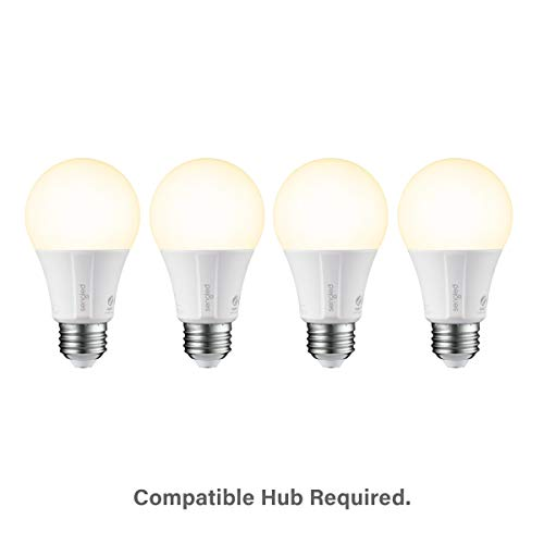 Sengled Smart LED Soft White A19 Bulb Hub Required, 2700K 60W Equivalent,  Works with Alexa, Google Assistant & SmartThings, 4 Pack
