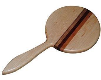 - Wisconsinmade Wooden Handheld Mirror, Maple