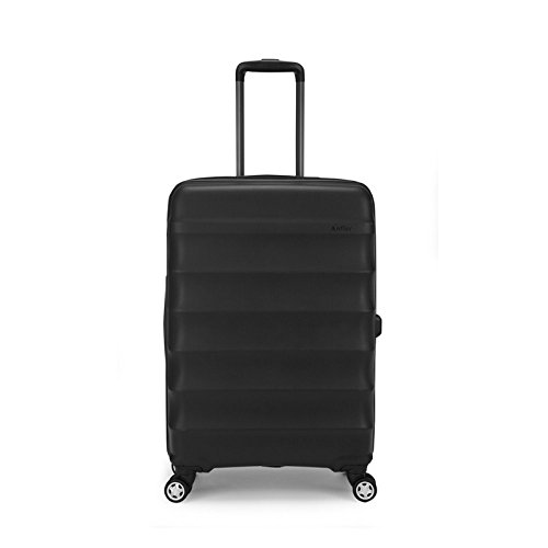 Antler Juno DLX 30'' Expandable Hardside Checked Spinner Luggage (Black) by Antler