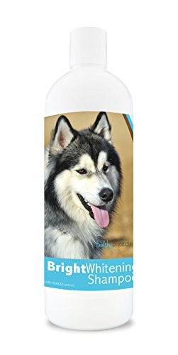 Puppy Husky (Healthy Breeds Dog Shampoo For White Dogs For Siberian Husky - For White, Lighter Fur – Over 150 Breeds – 12 Oz - With Oatmeal For Dry, Itchy, Sensitive, Skin – Moisturizes, Nourishes Coat)