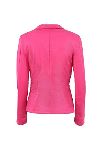 Donna Slim Chic Giacca Cappotto Suit Leisure Colore Business Manica Lunga Puro Rosered Confortevole Autunno Bavero Tailleur Fit Moda v4qwvB