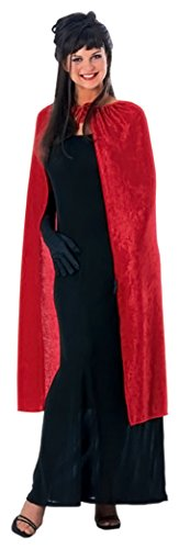 Rubie's Costume Co Women's 45-Inch Panne Velvet Cape, Red, One Size (Devil Robe Child Costume)