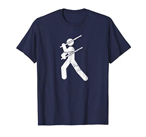 Mens Filipino Martial Art - Eskrima Kali Arnis Stick Man T-Shirt Large Navy ()