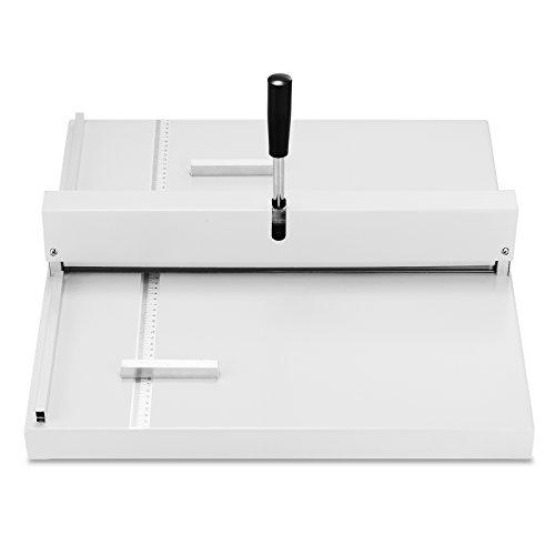 LOVSHARE Manual Paper Creasing Machine Scorer Perforator Paper Creaser 460MM Creasing Width for Brochures Booklets and Digitally Printed Media (Manual/ 460MM creasing width)