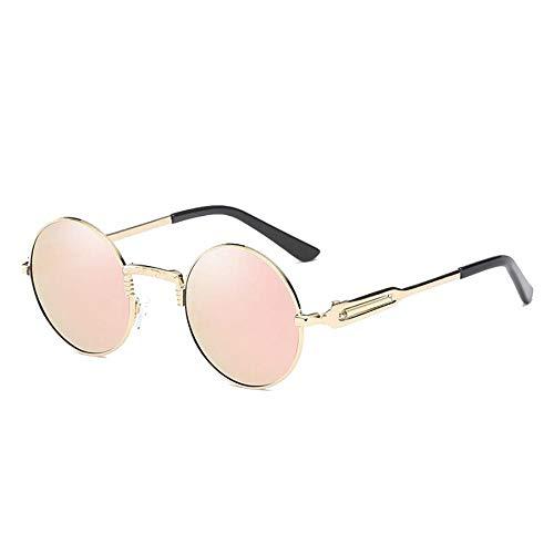 Azul Talla única Azul Sol Mujer de Gafas Hombre Redondo Sabarry polarizadas Retro Gafas Sunglasses Sol de UV 1qwxROZH