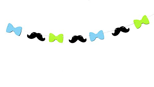 mustache party streamer - 9