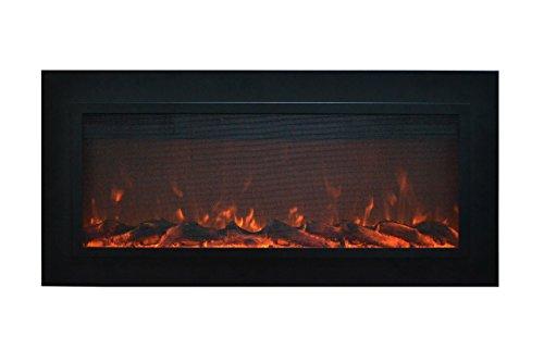 Touchstone 80013 Sideline Steel In-Wall Recessed Electric Fireplace, 50 Inch Wide, 1500/750 Watt Heater (Black (Metal Standard Fireplace Screen)