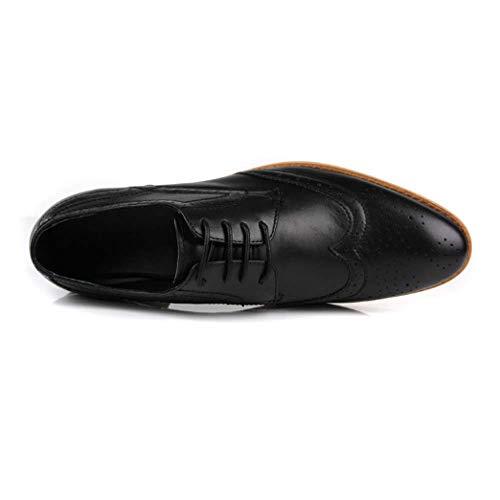 da Basse Moda Inglesi Scarpe Pelle Scarpe Moda Black Uomo Scarpe Versione Traspiranti Scarpe Brock Europea Casual in qxEvOvwnT