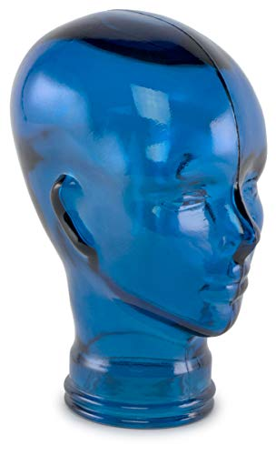 Traders and Company Spanish 100% Recycled Glass Cobalt Blue Head - 11.5