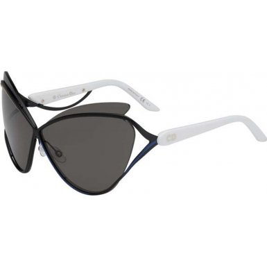 Dior 4CH Matte Black and White Audacieuse 1 Cats Eyes Sunglasses Lens - C Dior Sunglasses