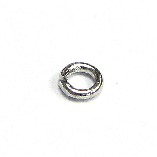 100 pcs Rhodium Plated Metal 4mm Round Open Jump Rings Bead 19 Gauge / 0.9mm Wire / Connector / Findings / Bright