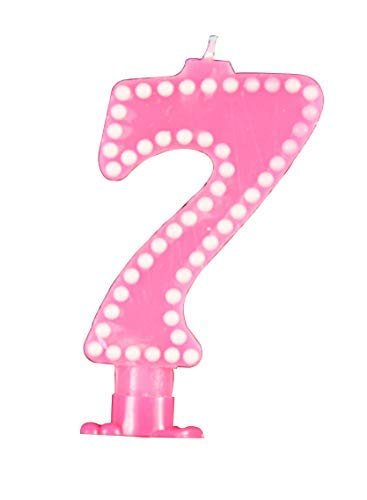 GrantParty Large Happy Birthday Candles 0 9 Molded Number For Party Time Special