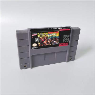 Game card - Game Cartridge 16 Bit SNES , Game Donkey Country Kong Competition Cartridge game Donkey Country Kong 2 - RPG Game Card US Version