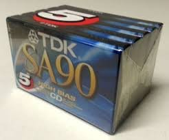 TDK SA90 High Bias CD Super Avilyn Type II Audio Cassette Tape - Pack of 5 (Sa90 Cassette Audio Tdk)