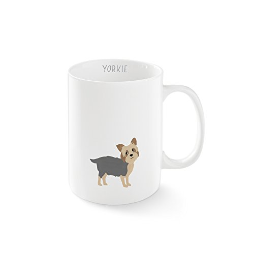 FRINGE STUDIO Happy Yorkie Mug, 12 liquid ounces (384088)