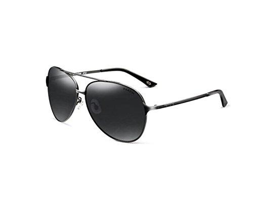 NHDZ Sonnenbrille, Männlich, Polarisierte Fahren, Sonnenbrille, Männliche Polarisierende Gläser, Schwarzer Rahmen, Schwarz Grau.