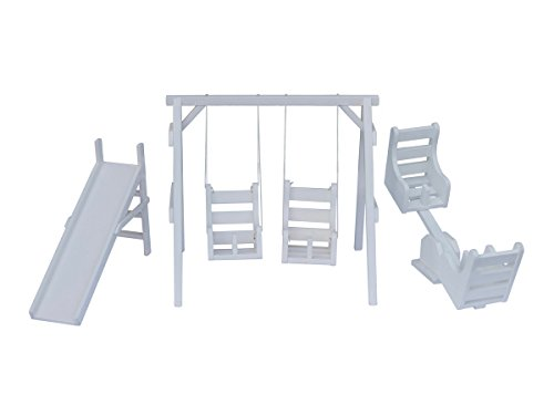 Wooden Doll Playground Play Set for 18-22