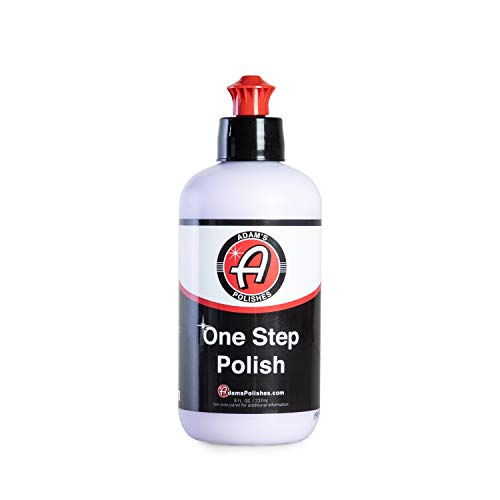 - Adam's One Step Polish 8oz - Safe for Clear Coat, Single Stage, or Lacquer Paint - Infused with SiO2 Silica to Add Protection While Polishing - Easy Application and Removal, Excellent Shine