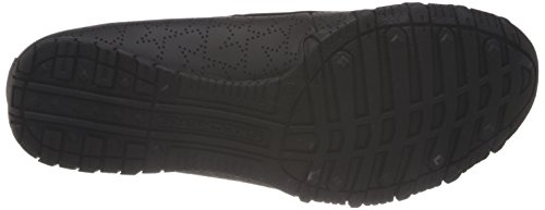 Skechers Women's Bikers-starry Nights Flat,Black,6 M US