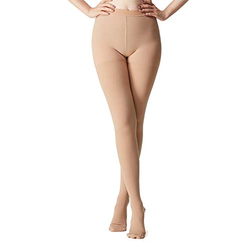 MEJORMEN Women Compression Pantyhose 20-30 mmHg Leggings Stocking Collection (Open Toe, Closed Toe, Footless) Opaque Varicose Veins Therapeutic Firm Medical Graduated Support Hose Pants