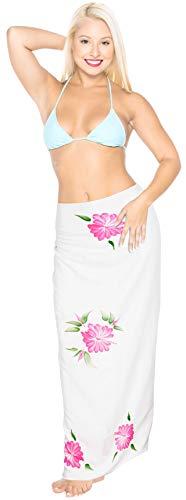 LA LEELA Rayon Badeanzug verschleiern Schwimmen Sarong gedruckt