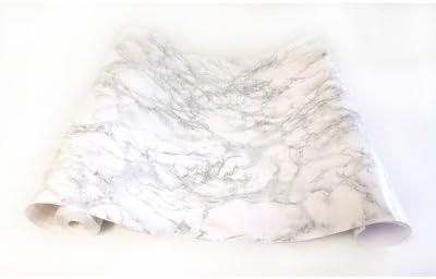 Adzif.biz Le sticker de decoration Rouleau adh/ésif 1 m x 45 cm Papier Peint Autocollant Aspect MARBRE Gris