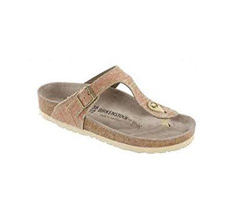 Birkenstock Women's Gizeh Orange Linen Sandal 37 (US Women's 6-6.5) Regular